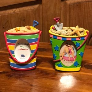 Set of 2 NWT Beach Pail Picture Frames